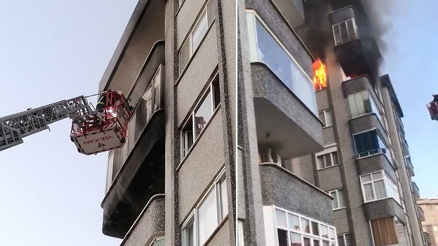 Yangından itfaiye erleri kurtardı