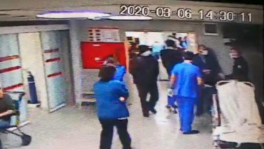 'Corona virüsü kaptım' diye hastaneyi birbirine kattı