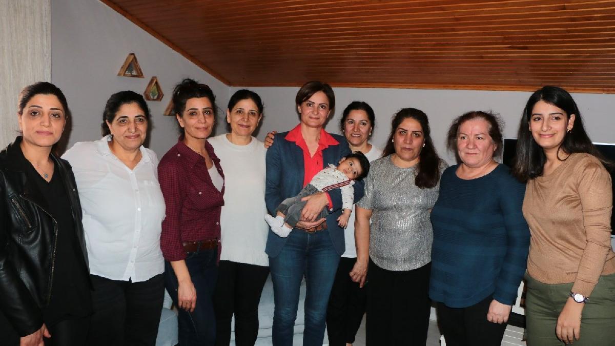 Canan Kaftancıoğlu, ev işçisi kadınların sorunlarını dinledi