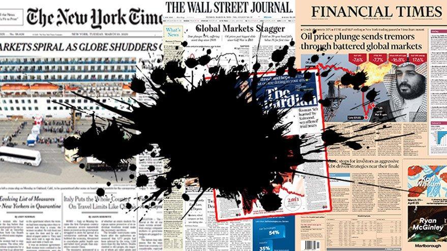 Dünyada gazeteler piyasalardaki 2020 depremini böyle gördü