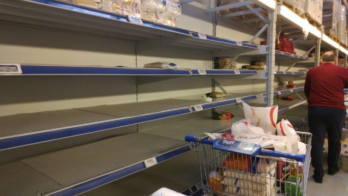 Marketlerde corona virüsü endişesi