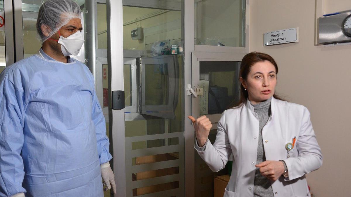 İşte corona virüsü testlerinin yapıldığı laboratuvar
