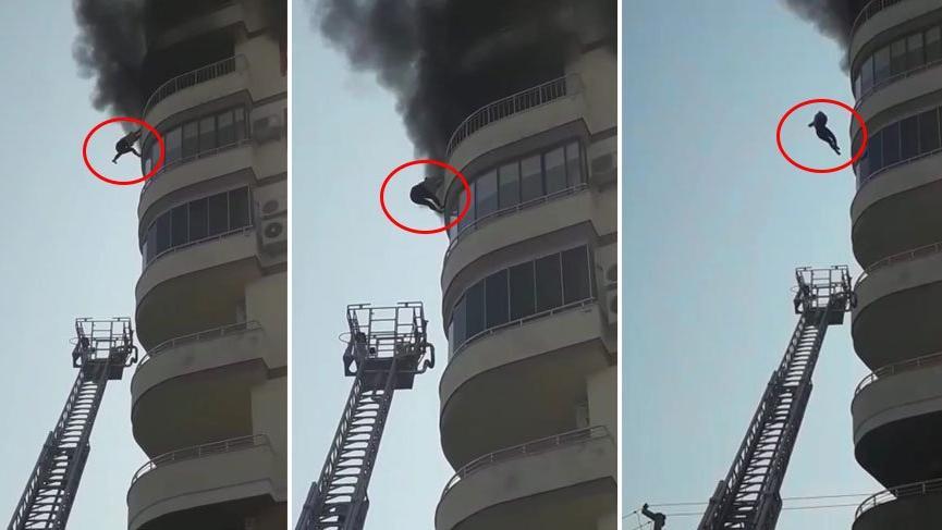 İtfaiye merdiveni yetişmedi, sekizinci kattan yere çakılıp canından oldu!