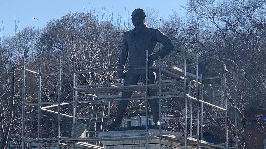 Türkiye'nin ilk Atatürk Anıtı'nda onarım çalışması