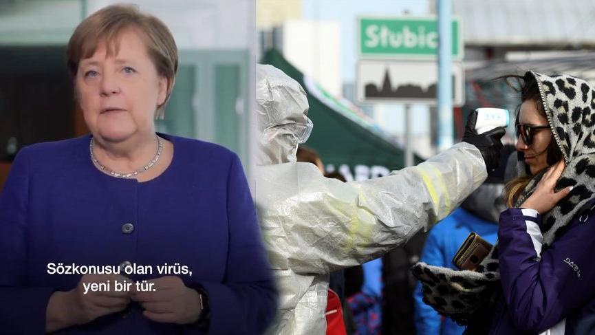 Merkel'den Türkçe altyazılı Corona çağrısı!