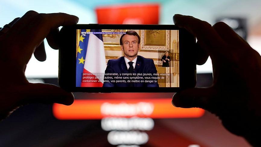 Herkes bu açıklamaya kilitlenmişti: Macron'dan Corona virüsü çıkışı