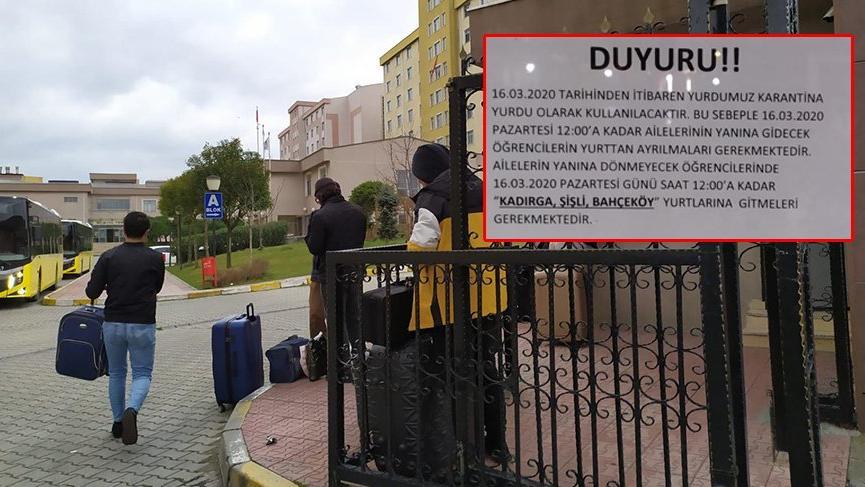 Son dakika.. İstanbul'da iki öğrenci yurdu boşaltılıyor