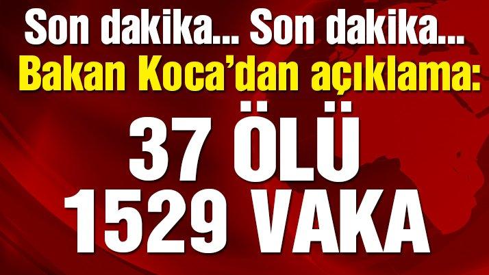 Son dakika… Bakan Koca, Türkiye'deki yeni corona vakalarını açıkladı