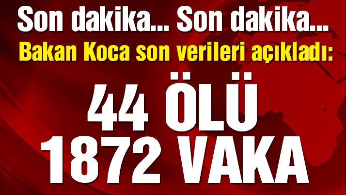 Son dakika… Bakan Koca açıkladı! İşte Türkiye'deki güncel corona virüsü vaka sayısı