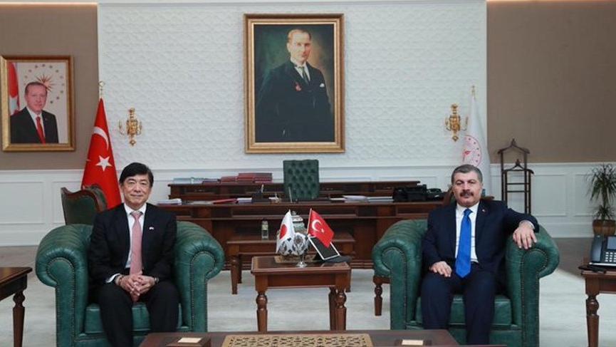 Bakan Koca ile Japon büyükelçi arasında corona virüsü görüşmesi!