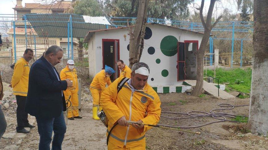 Barış Pınarı Harekatı bölgesinde 'corona' çalışması!