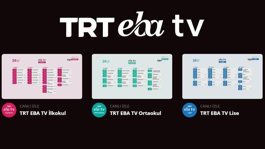 EBA TV izle... EBA TV ilkokul, ortaokul, lise kanalları canlı izle!