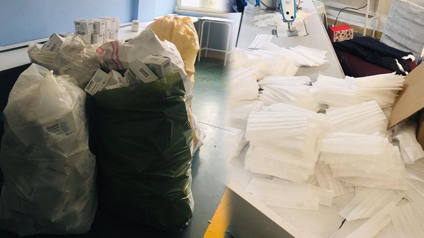 Corona virüs fırsatçılarına baskın: 1 milyon sahte maske ele geçirildi