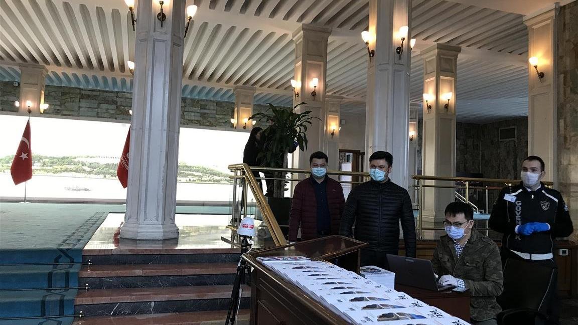 İBB binasında termal kameralı corona önlemi