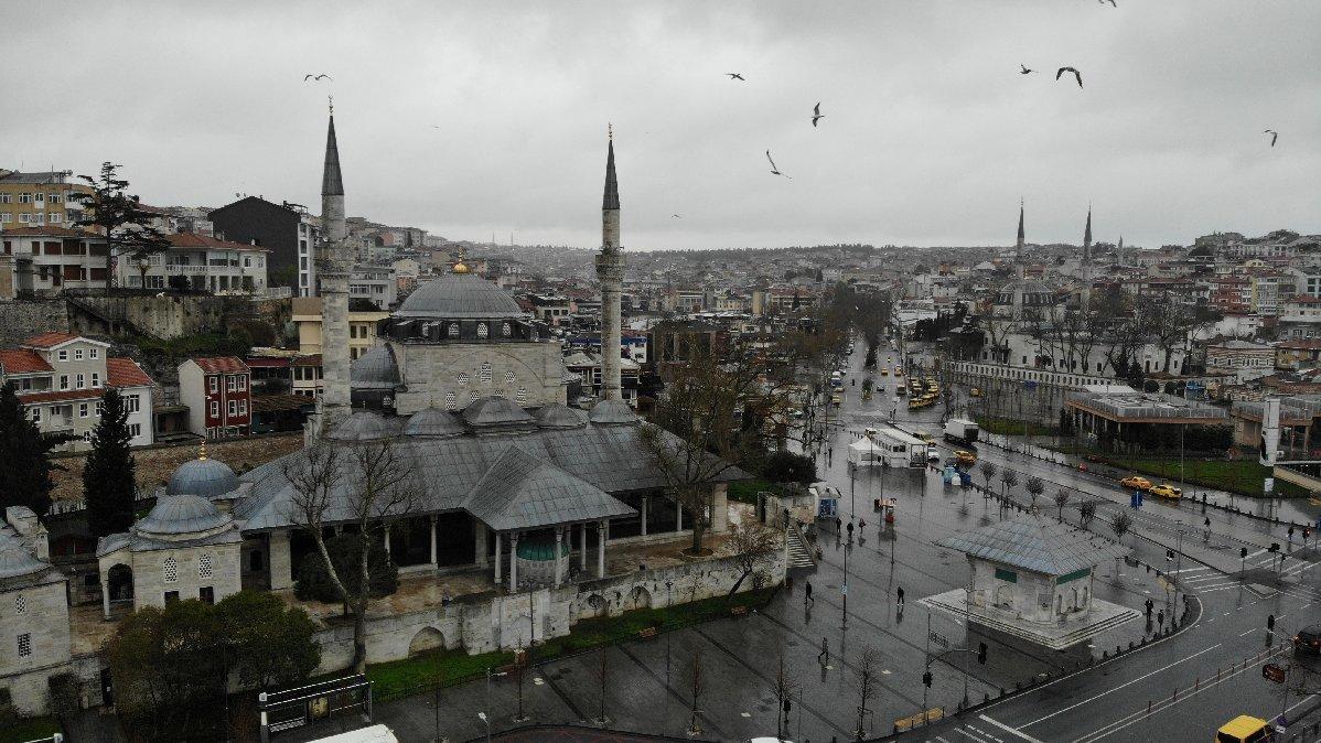 İstanbul'da corona virüs sessizliği havadan görüntülendi