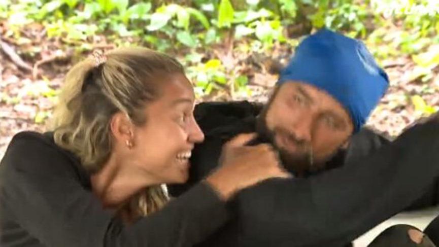 Survivor Yasin ve Evrim arasında romantik anlar