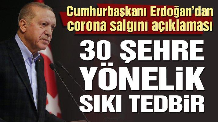 Son dakika… Cumhurbaşkanı Erdoğan'dan kritik corona virüsü salgını açıklaması
