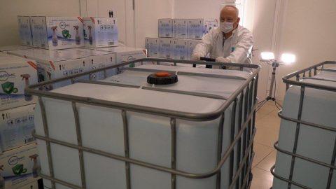 Sabancı'dan 10 ton dezenfektan desteği