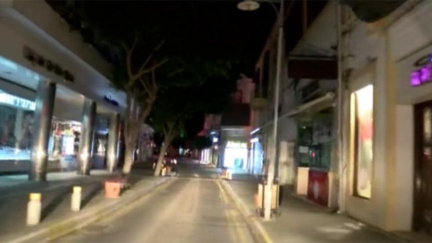 KKTC'de sokağa çıkma yasağı başladı!