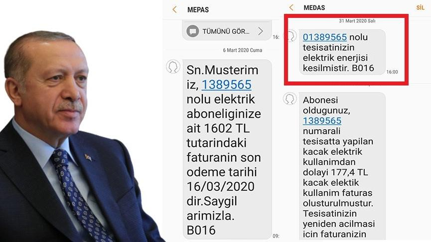 Cumhurbaşkanı Erdoğan, 'Kimsenin elektriği kesilmeyecek' demişti ama...