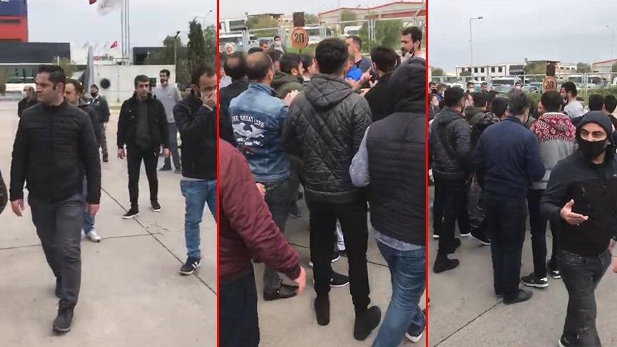 İzmir'de fabrikada corona virüsü arbedesi... Ortalık karıştı