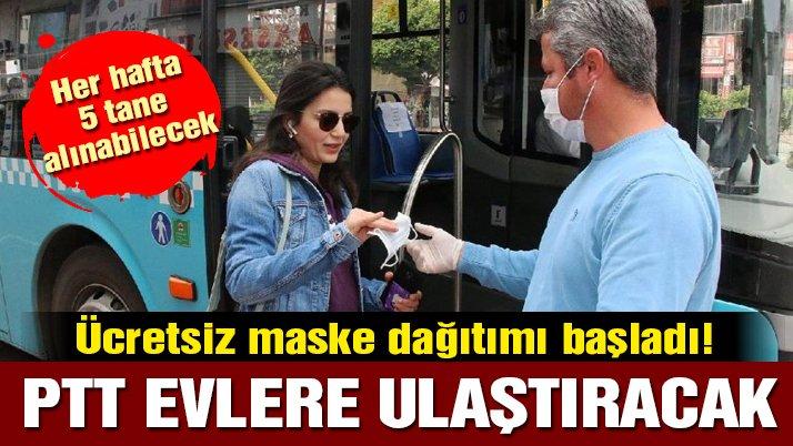 ePTTAVM'den ücretsiz maske nasıl alınır? Bakanlıktan ücretsiz maske açıklaması!