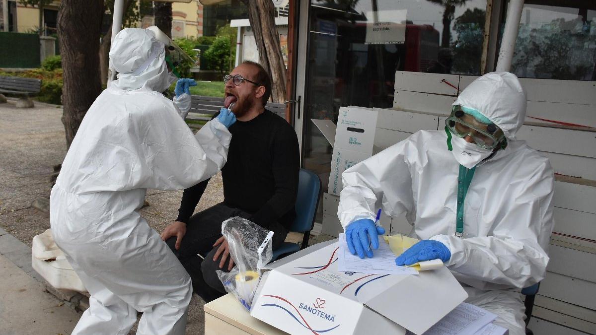Sokak ortasında corona virüsü testi! 100 kişiden örnek alındı...