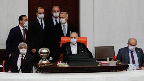 Meclis'te maskeli 'İnfaz Yasası' görüşmeleri!