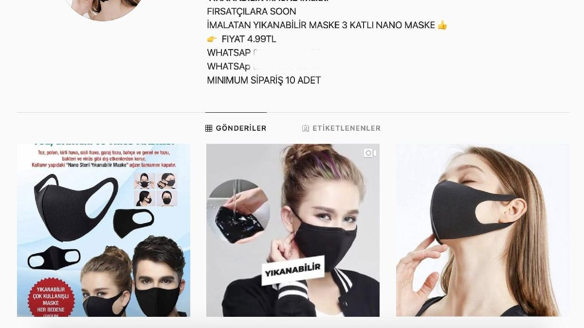İnternetten maske satışı devam ediyor