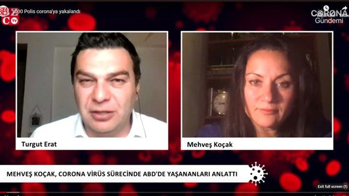 New York'ta yaşayan gazeteci Mehveş Koçak, corona virüsünün pençesindeki ABD'yi anlattı