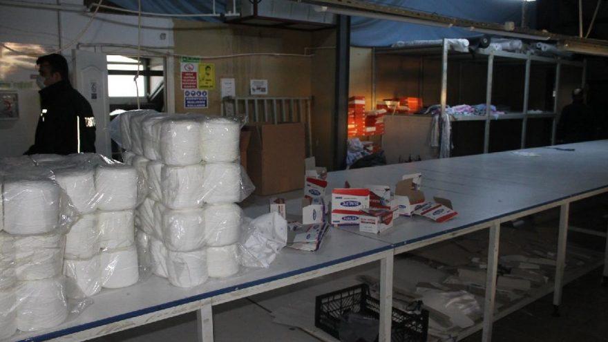 Müşteri kılığına giren polis 2 milyon maske ele geçirdi