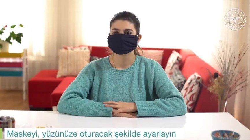Sağlık Bakanlığı paylaştı: Evde kolay bez maske yapımı...
