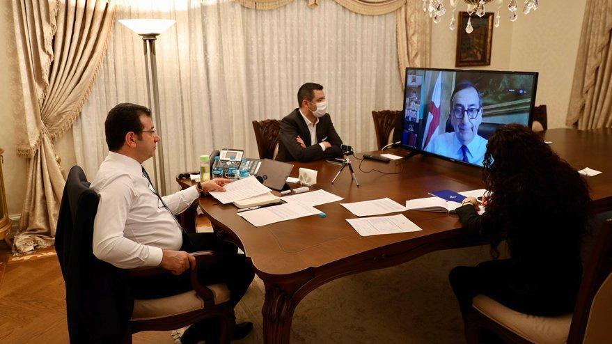 İmamoğlu, diğer ülkelerin belediye başkanlarıyla pandemiyi görüştü!