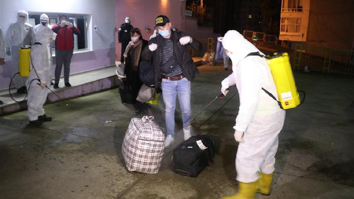 Yurt dışından getirilen 442 Türk karantinaya alındı