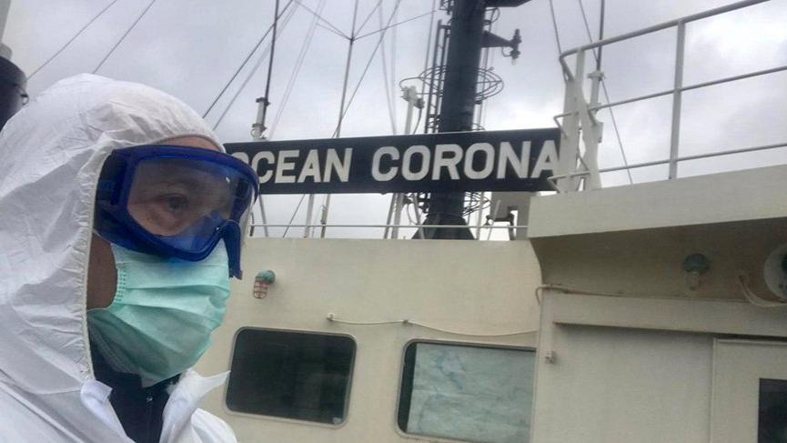 """Boğaz'dan """"Ocean Corona"""" geçti, Kıyı Emniyeti bu mesajı verdi"""