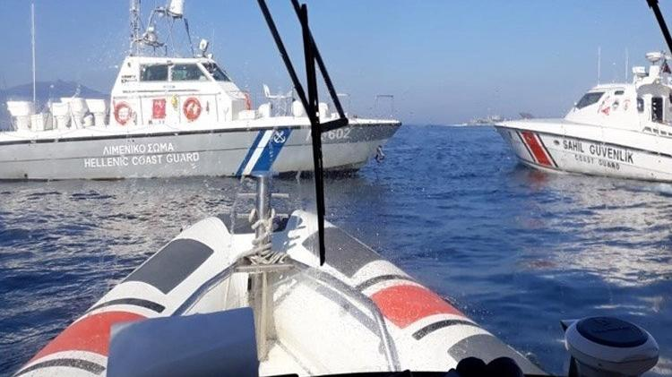 Yunan botu Türk karasularından sürülerek çıkarıldı!