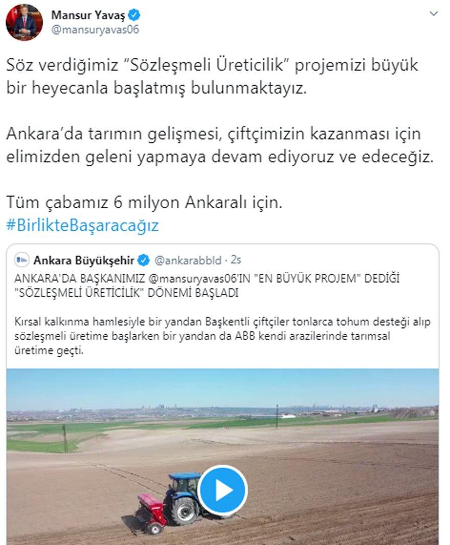Ankara'da 'Sözleşmeli Üreticilik' dönemi başladı! - Güncel haberler