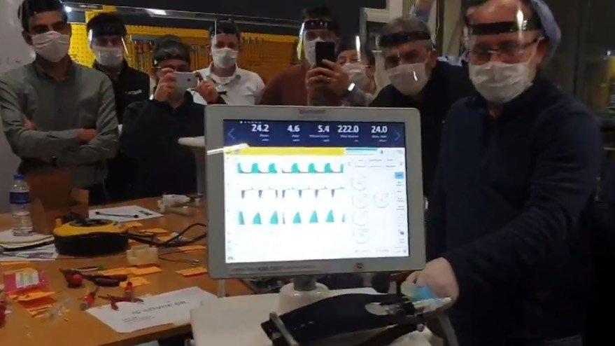 Yerli solunum cihazı seri üretimden çıktı