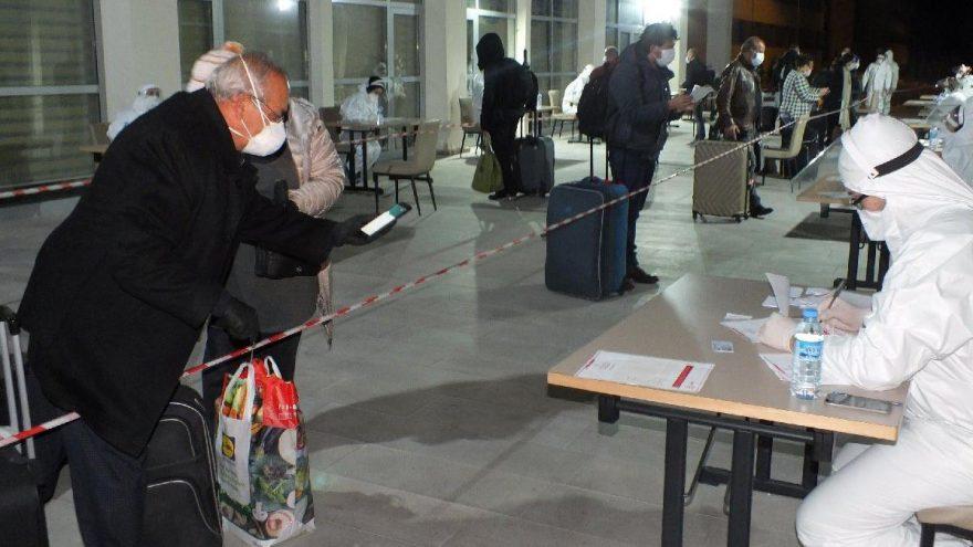 Almanya'dan yurda dönen 285 kişi, Yozgat'ta KYK yurduna yerleştirildi