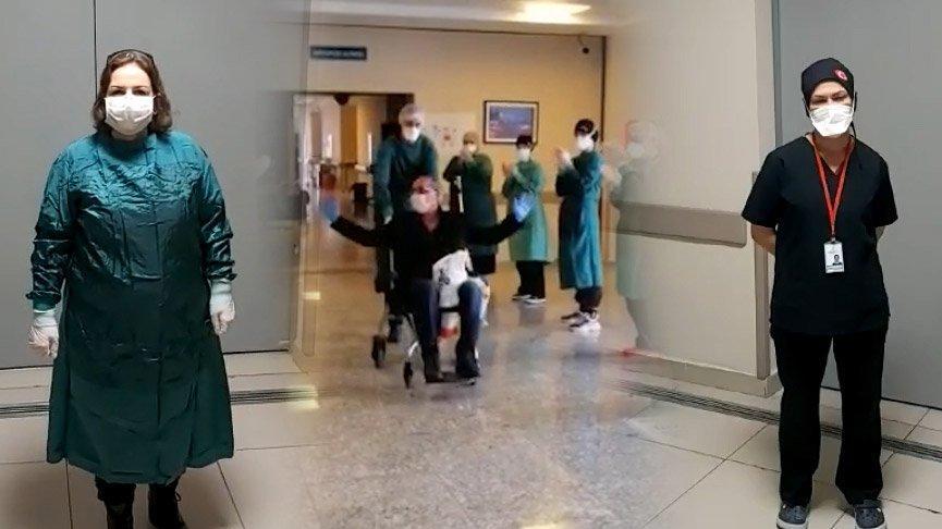 Hemşireler umut oldu, 17 günlük karantinadan sağlıkla çıktı!