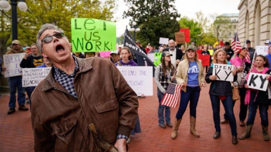 ABD'de corona yasaklarını protestonun bilançosu çıkıyor: Yeni vakada rekor kırdılar