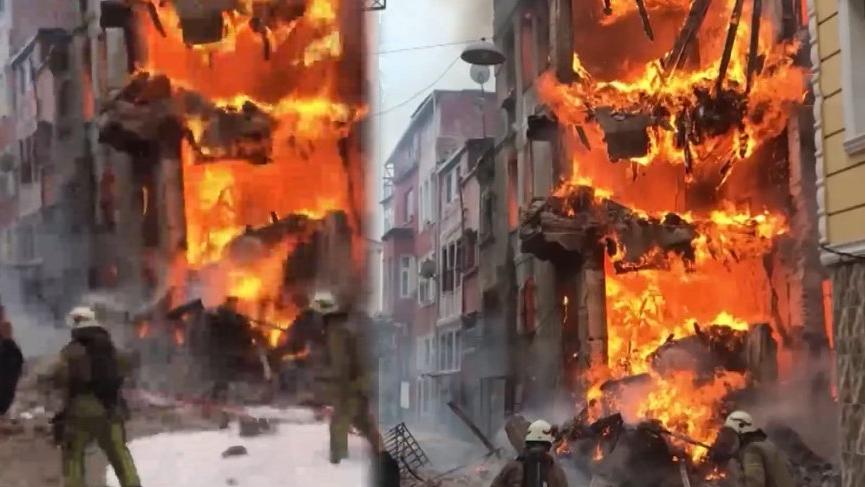İstanbul'da korku dolu anlar! Alev alev yandı