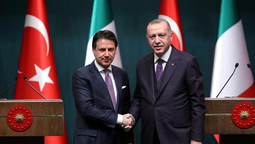 Cumhurbaşkanı Erdoğan, İtalya Başbakanı ile görüştü!