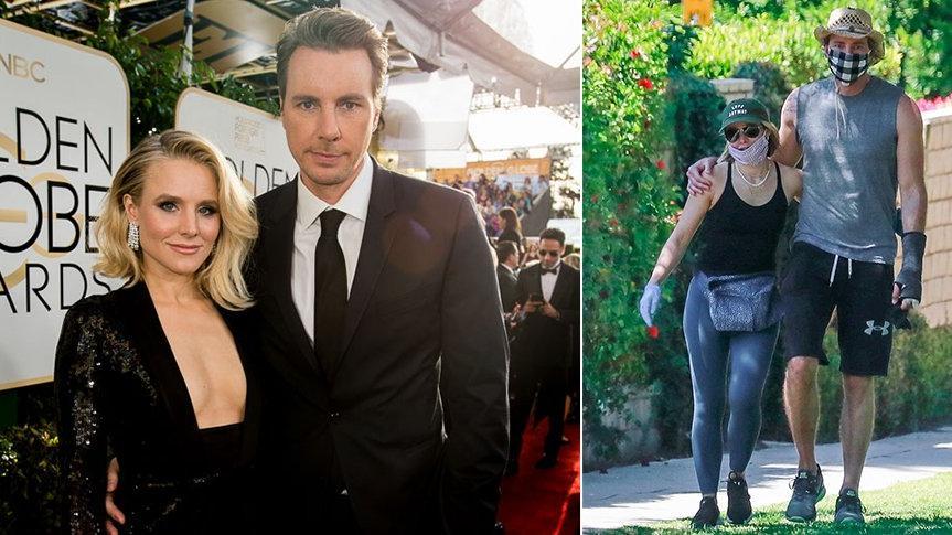 Corona günlerinde aşk: Kristen Bell ve Dax Shepard sarmaş dolaş yürüyüşte