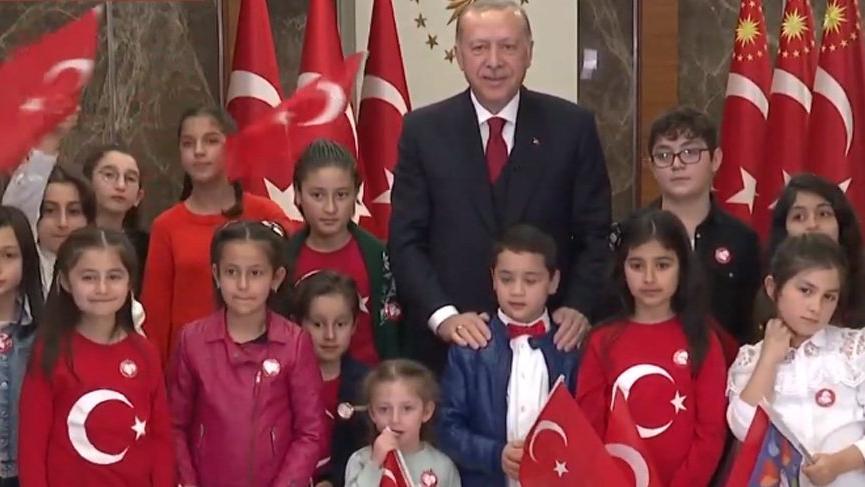 Son dakika... Erdoğan'dan 100. yıl ve 23 Nisan mesajı!