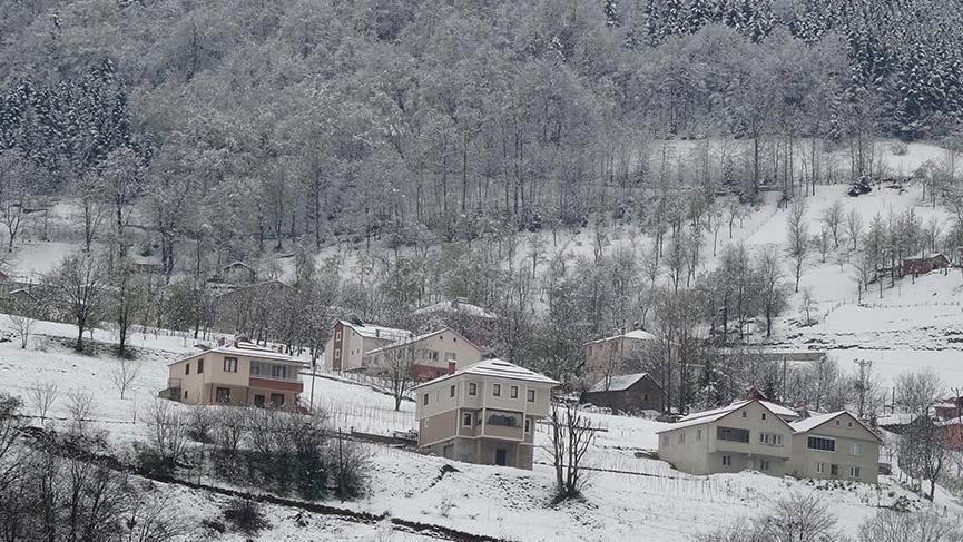 Doğu Karadeniz'in yükseklerinde kar yağışı