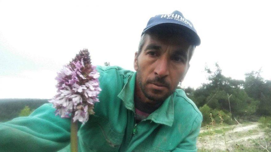 Koparmanın cezası 72 bin lira olan bitkiyle selfie çekti