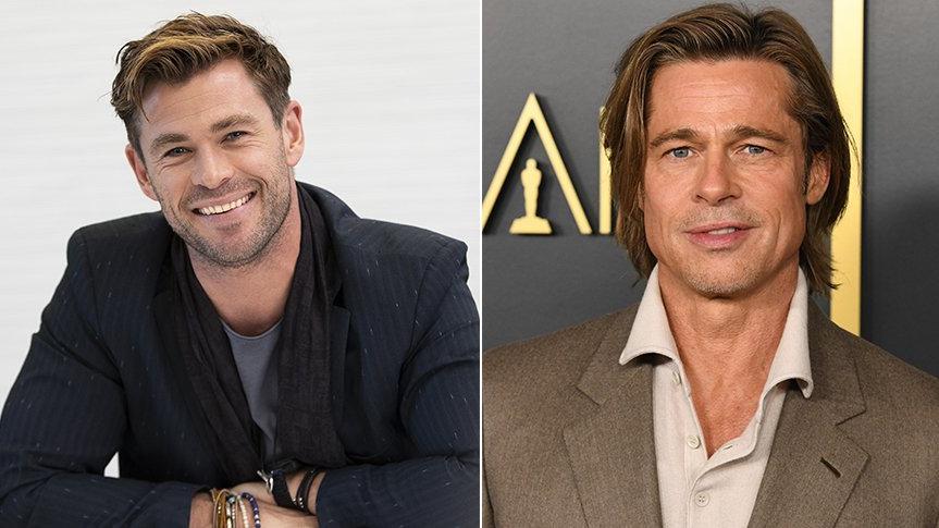 Chris Hemsworth, Brad Pitt ile tanışma anını anlattı: O el sıkışmak istedi, ben ise sarıldım