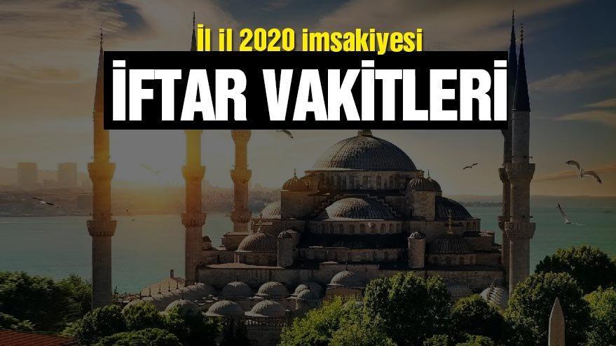 İl il 2020 Ramazan imsakiyesi…