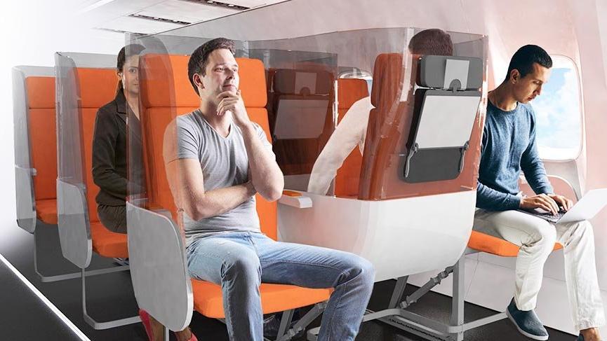 İtalyan hava yolu koltuk üreticisi, yolcular için Covid-19 koruması geliştirdi